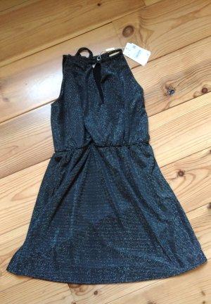 Kleid schwarz/silber (Größe: M/38)
