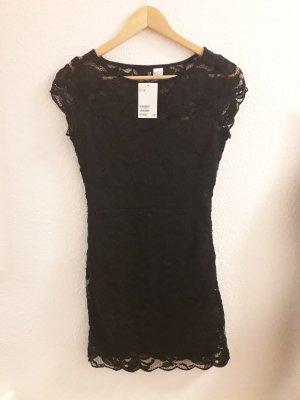 Kleid Schwarz Spitze von H&M Größe 38