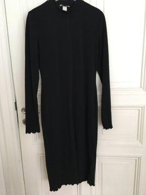 Kleid schwarz Stretch von H&M langarm Grösse L