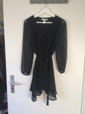 Kleid schwarz transparent Nelly Blogger