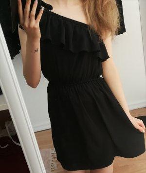 Kleid schwarz Volants gr 34 asymmetrisch