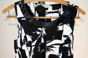 Kleid - schwarz/weiß