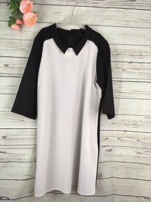 Kleid Schwarz Weiss Atmosphere Krepp