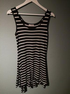 Kleid schwarz/weiß Clockhouse