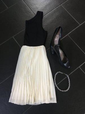 Kleid schwarz weiß Cream Gr. 42
