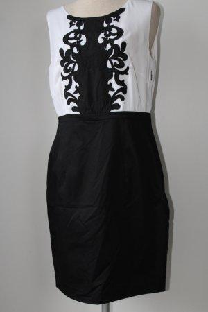 Kleid schwarz weiß Etuikleid H&M Gr. 40 neu