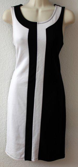Kleid, schwarz weiß