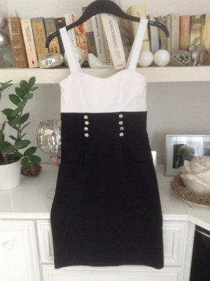 Kleid / schwarz-weiß / Gr. S