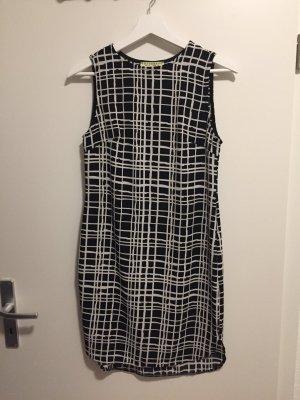 Kleid schwarz weiß kariert