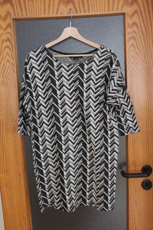 Kleid, schwarz weiß mit Muster, Grätenmuster, geometrisches Muster, Größe 38 - wie NEU