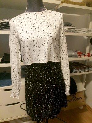 Kleid schwarz weiß mit Ornamenten Größe XS