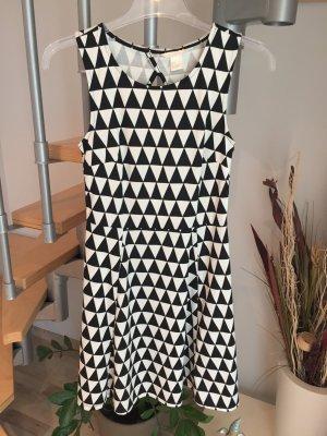 Kleid schwarz weiß S