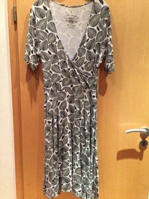 Kleid schwarz/weiß Tom tailor Gr. L
