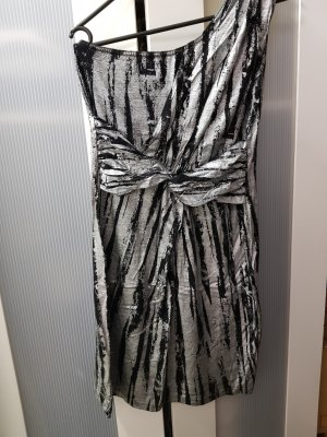 b.p.c. Bonprix Collection Vestido de noche negro-color plata