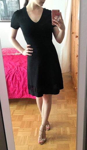 Kleid SET Gr. 36 S schwarz Midi Ausgestellt Bodycon V-Ausschnitt NP 160€