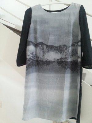 Kleid/Shiftkleid mit Landschaftsprint