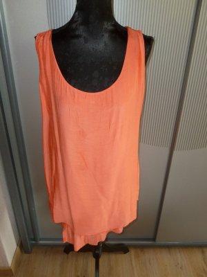 Kleid Shirt korallrot Made in Italy