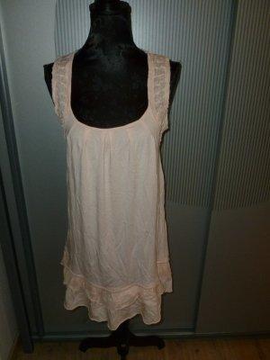 Promod Vestido de tela de sudadera rosa Algodón