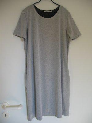 Kleid Shirtkleid Jerseykleid Gr. 36 38 hellgrau meliert KAFFE