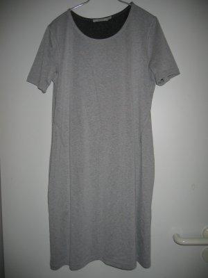 Kleid Shirtkleid Jerseykleid Gr. S/M hellgrau melliert KAFFE