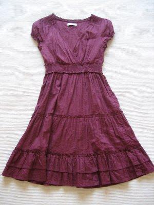 kleid somerkleid yessica lila burgund gr. xs 34/s 36 neu