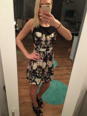 Kleid Sommer Cut Outs Bunt Muster Print Psychedelisch Fractal Blogger Trend