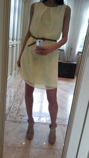 Atmosphere Chiffon Dress pale yellow