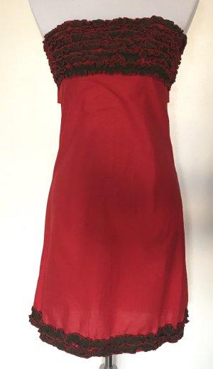 Robe épaules nues rouge coton
