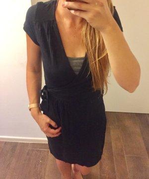 Kleid Sommerkleid Abendkleid Vila schwarz zum binden schlicht kurzärmlig