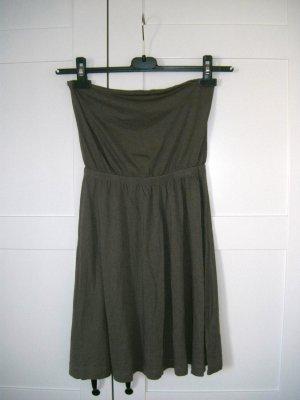 Kleid, Sommerkleid, Bandeaukleid, oliv, khaki, Gr. 34/36