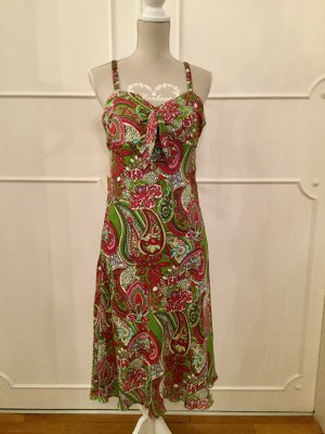 Kleid Sommerkleid Chiffonkleid Blumenkleid Trägerkleid Grösse 40 gemustert