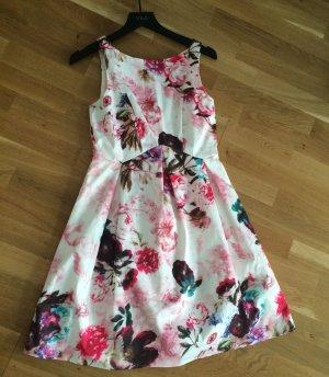 Kleid Sommerkleid Cocktailkleid Blumenkleid Blumenprint Flowerprint Gr 38 YAS
