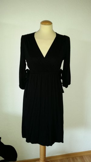 Kleid Sommerkleid Gr. 38 schwarz mit Schleifen 3/4 Arm