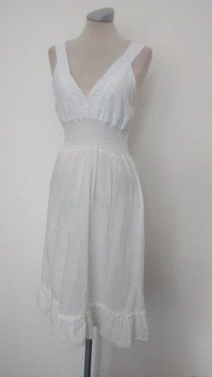 Kleid Sommerkleid Gr. S 36 weiß Baumwolle neu hippie folklore