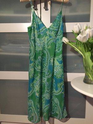 Kleid Sommerkleid grün Paisley Ornamente