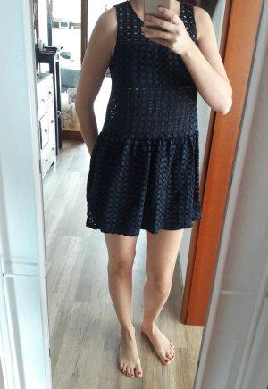 Kleid Sommerkleid Hängerchen Seethrough Marine blau Größe M/38