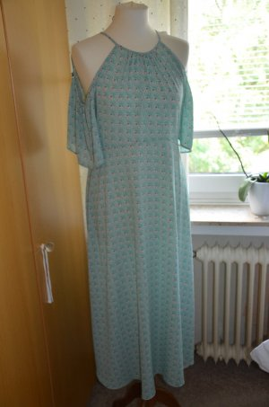 Hallhuber Midi Dress turquoise-mint polyester
