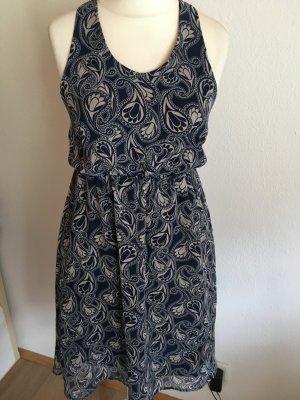 Kleid Sommerkleid leicht sexy Rücken gemustert Gr. M