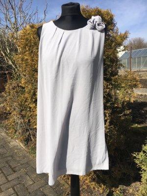 Vestido de tubo color plata-gris claro