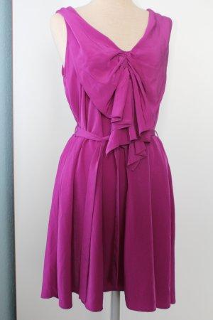 Kleid Sommerkleid Minikleid lila pink retro kurz Next Gr. UK 10 38 S M gerafft
