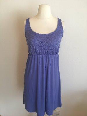 Kleid Sommerkleid mit Spitze Blau Lavendel NEU