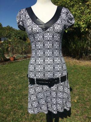 Kleid, Sommerkleid, Mötivi, Made in Italy, schwarz/weiß, Gr. XS, Nagelneu