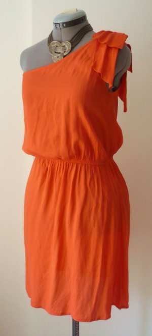 Kleid, Sommerkleid, one-shoulder, orange, Größe S/ 36