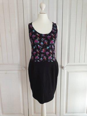 Kleid Sommerkleid rosen M rosa blau schwarz blumen babydoll vintage Dress Rock Clockhouse