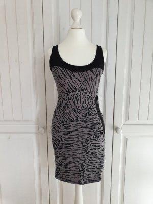 Kleid Sommerkleid rosen XS grau schwarz tieger streifen babydoll vintage Dress Rock Tally weijl