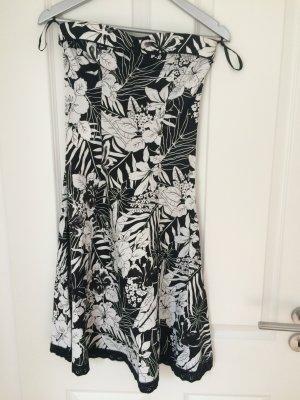 Kleid Sommerkleid s schwarz weiß Blumen Ann Christine New Yorker 36