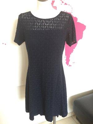 Kleid Sommerkleid Spitzenkleid dunkelblau Gr. 40 Manguun