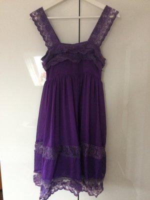 Kleid Sommerkleid Spitzenkleid lila violett Größe 36/38