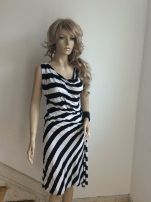Kleid Sommerkleid Streifen Black | White