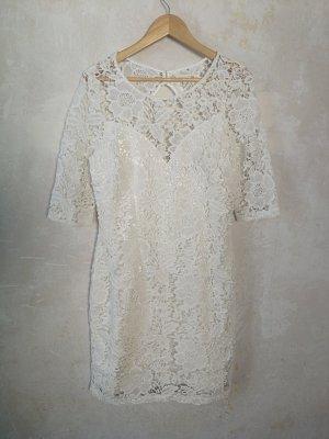 Lipsy Robe en dentelle blanc